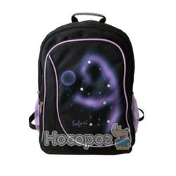 Ранець-рюкзак SAF 9792 300D PL, чорн-фіол (2 відд., 43*30*18см) 13018010
