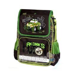 Ранець шкільний Fantasy 169K303 розміром 40*28*13см. темно-зелений
