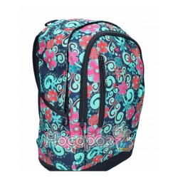 Ранець-рюкзак SAF 97018 600D PL, син-зел., 2 відд., 43*30*18см 13018380