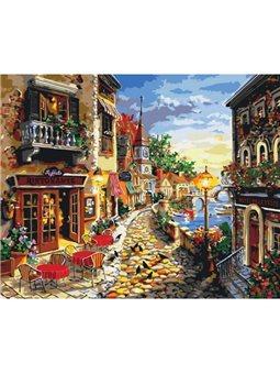 Картина по номерам Уютная улочка КНО2132