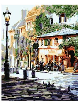 Картина по номерам Уютное кафе КНО2150