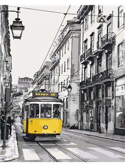 Картина по номерам Жёлтый трамвайчик КНО2187