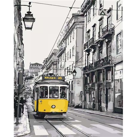 Фото Жёлтый трамвайчик КНО2187