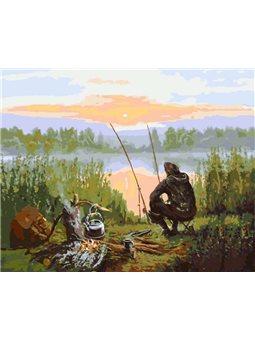 Картина по номерам Отдых у реки КНО2241