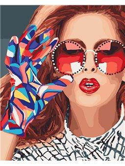 Картина по номерам Модниця КНО4577