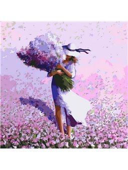 Картина по номерам Цветочное поле КНО2660