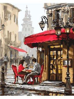 Картина по номерам Свидание в кафе КНО2144