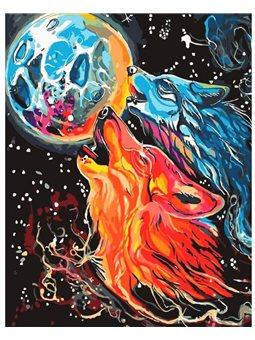 Картина по номерам Бесстрашные волки КНО4007