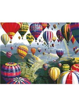 Картина по номерам Воздушные шары КНО1056