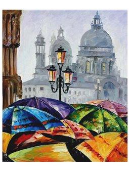 Картина по номерам Яркие зонтики КНО2136