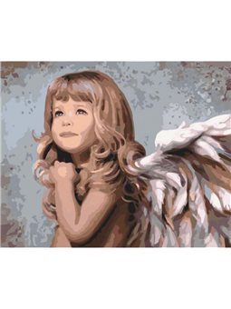Картина по номерам Маленький ангелочек КНО2309
