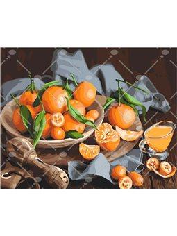 Картина по номерам Оранжевое наслаждение КНО5545