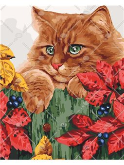Картина по номерам Рыжое счастье КНО4091