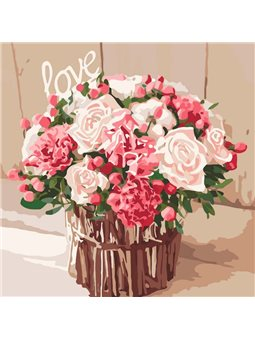 Картина по номерам Розы любви КНО2074
