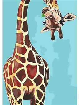 Картина по номерам Веселий жираф КНО4061