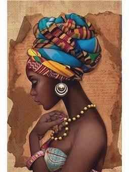 """Набір для розпису по номерах. Люди """"Перлина Африки"""" 35*50см КН2625"""