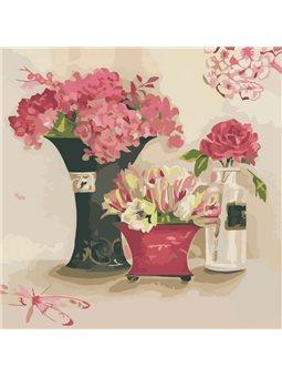 Картина по номерам Розовые мечты КНО2060