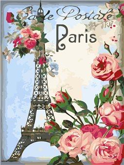 """Набір для розпису по номерах. Букети """"Привіт з Парижа"""" 30х40см КНО2063"""