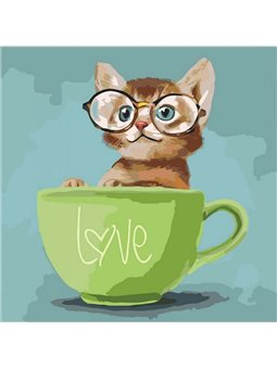 Картина по номерам Lovely kitten КНО4057
