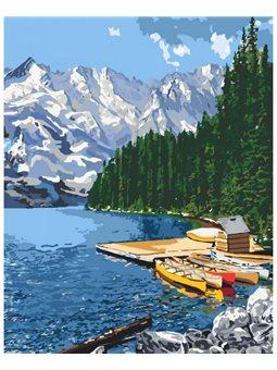 Картина по номерам. Горное озеро КНО2223