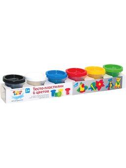 """Набір для дитячої творчості """"Тісто-пластилін 6 кольорів"""" TA1009V"""