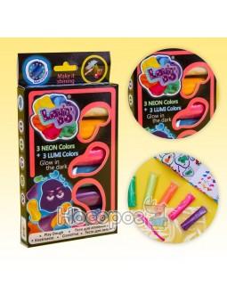Набор теста для лепка ТМ LOVIN'DO Ассорти 6 цветов Люми 41018