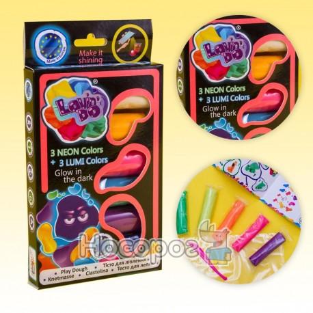 Фото Набор теста для лепка ТМ LOVIN'DO Ассорти 6 цветов Люми 41018
