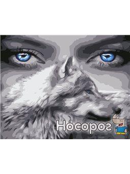Картина по номерам в коробке Взгляд волчицы AS0588