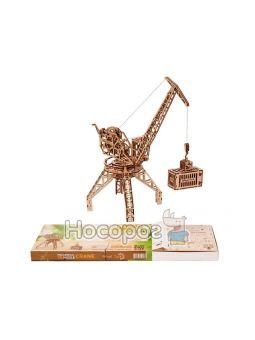 """Механическая сувенирно-коллекционная модель """"Кран с контейнером"""" Wood Trick"""