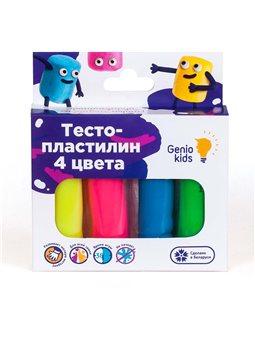Набор для детской лепки «ТЕСТО-ПЛАСТИЛИН 4 ЦВЕТА». TA1082
