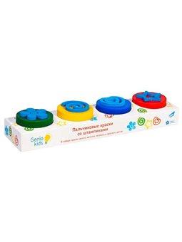 Набір для дитячої творчості «Пальчикові фарби зі штампиками» TA1400