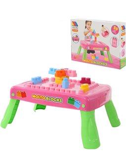 Набір ігровий з конструктором (20 елементів) у коробці (рожевий) з елементом обертання 58010