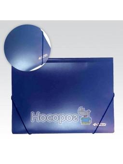 Папка на резинке А4 4Office 4-244 синяя