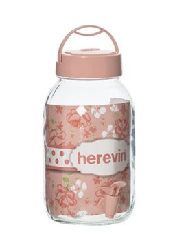 Диспенсер для напитков HEREVIN Beverage PINK, 3 л 6477886