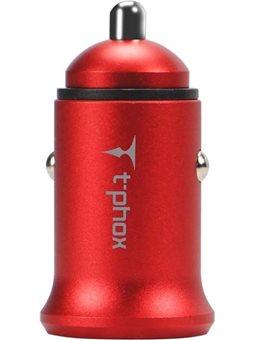 Зарядное устройство T-PHOX Zega 3.1A Dual USB Red 6465770