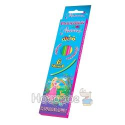 Олівці кольорові Kidis Princess world гнучкі 7429