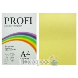 Папір кольоровий PROFI А4/160г Light Yellow №160