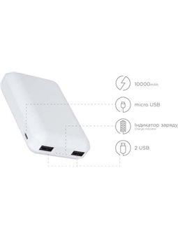 Портативная батарея ERGO LP-С21 - 10000 mAh Li-pol White 6454606
