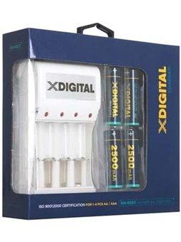 Зарядное устройство X-Digita KN-8003 + 4 аккумулятора X-Digita HR6 Ni-MH 2500mAh PHOTO 6392113