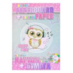 Набор цветного картона и бумаги Kidis Cute little oil 7591