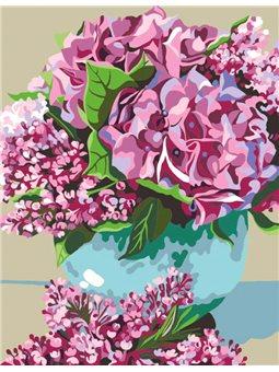 """Набор, акриловая живопись по номерам, """"Цветы весны"""", ROSA START N0001379"""