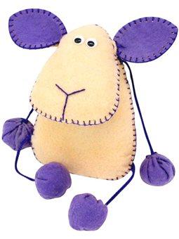 Набор, создай игрушку из фетра, овечка Флаффи, ROSA KIDS N000233