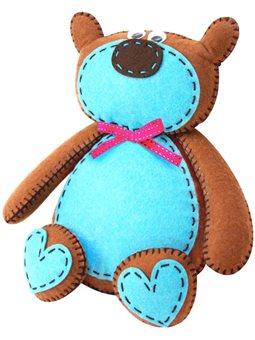 Набор, создай игрушку из фетра, медвеженок Брауни, ROSA KIDS N000232