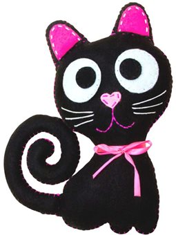 Набор, создай игрушку из фетра, котенок Блэки, ROSA KIDS N000236