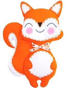 Набор, создай игрушку из фетра, лисенок Смайли, ROSA KIDS N000234