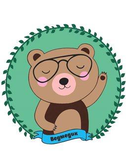 """Набор, разрисовка по номерам, """"Медвежонок"""", ROSA KIDS N0000236"""