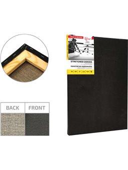 Подрамник, 40*50 см, крупное зерно, Черный грунт, лён, ROSA GPA3794050