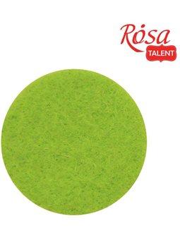 Фетр листовой (полиэстер), 21х29,7 см, Салатовый, мягкий, 180г/м2, ROSA TALENT A4-043