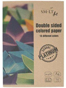 Цветная бумага (двусторонняя) Platinum А4, 150/м2, 16л, SMILTAINIS 2SP-P16/P