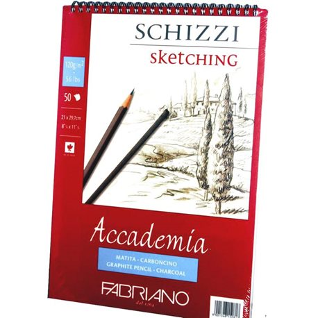 Фото Альбом на спирали Accademia А5 (14,8*21см) 120г/м2, 50л, мелкое зерно, Fabriano 16F5202
